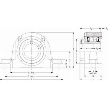 timken QVPG22V311S Solid Block/Spherical Roller Bearing Housed Units-Single V-Lock Four-Bolt Pillow Block