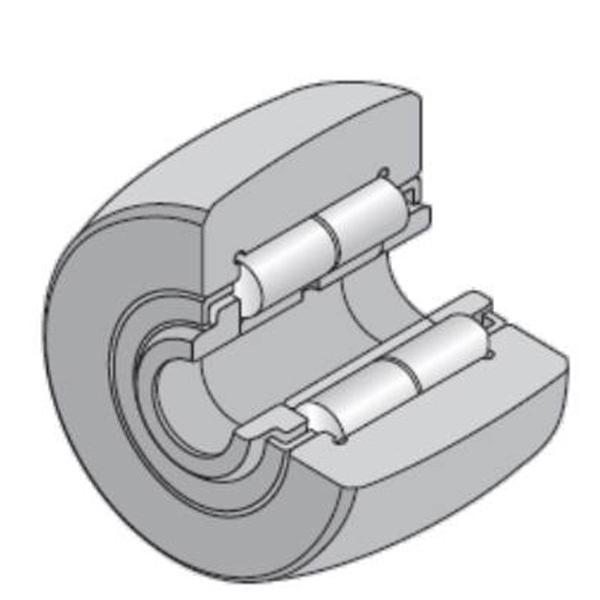 35 mm x 80 mm x 29 mm  NTN NUTR307X/3AS Needle roller bearings-Roller follower with inner ring #2 image